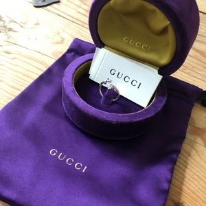 New Gucci Cross and Heart 18K Ring